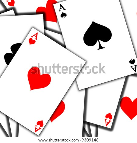 Playing cards background with soft shades