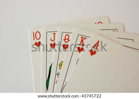 Playing cards isolated on a white background. - stock photo