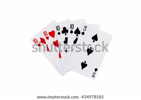 Playing Cards Poker Hand Four of a Kind