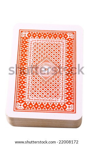 Playing cards with clipping path isolated on white background