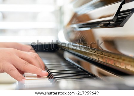 Playing classic piano