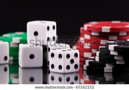Playing Dice - stock photo