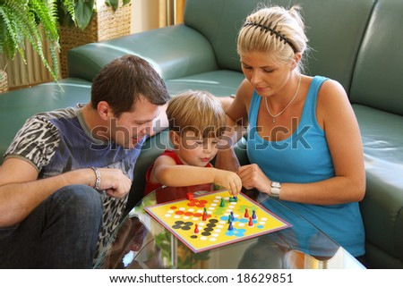 playing family - stock photo