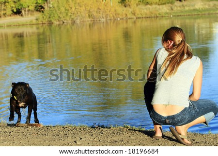 Playing Fetch - stock photo