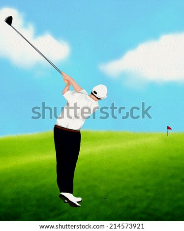 Playing Golf - stock photo