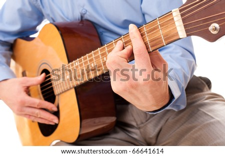 playing guitar - stock photo