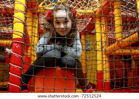 playing in the playground - stock photo