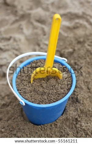 Playing in the sand - stock photo