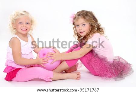 Playing kids - stock photo