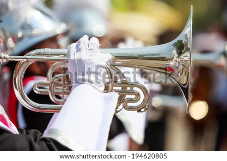 Playing Marching forward with wind - stock photo