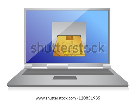 playing online concept illustration design over a white background - stock photo