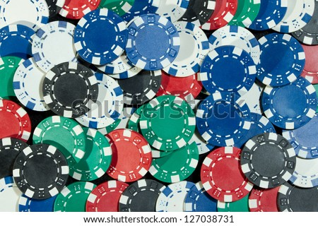 Playing Poker Chips - stock photo