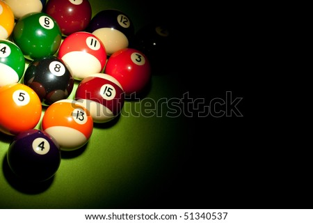 Playing pool - stock photo