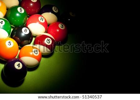 Playing pool - stock photo