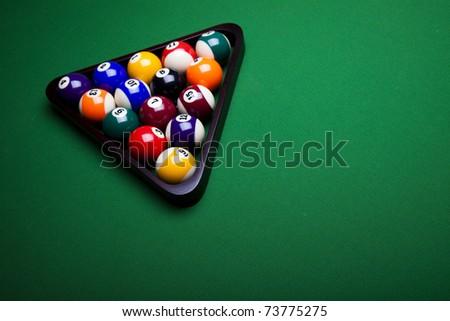 Playing pool, Billiard - stock photo