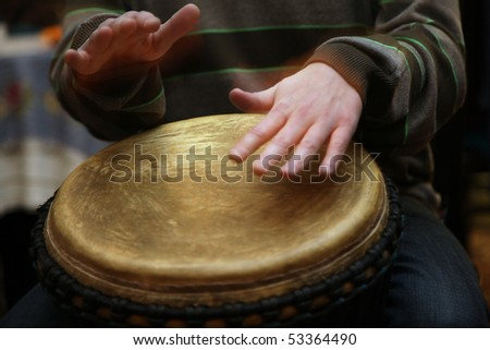 Playing  the drum - stock photo