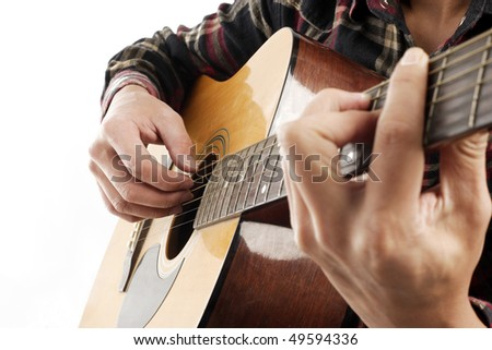 Playing the Guitar - stock photo