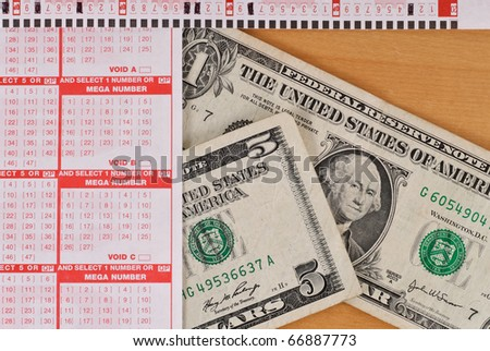Playing the Lottery Background Image - stock photo