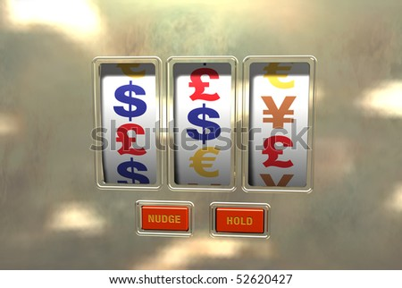 Playing the money markets - stock photo