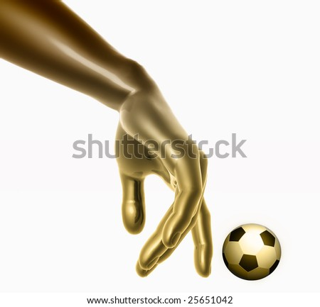 Playing with soccer ball - stock photo