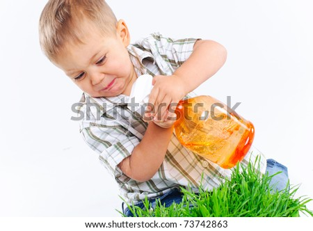 Playing With Water - stock photo