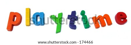 Playtime ABC letters - stock photo