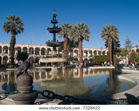 Plaza De Armas – Arequipa, Peru - stock photo