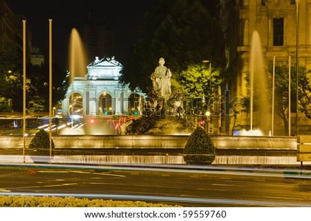 Plaza de Cibeles in Madrid, Spain - stock photo