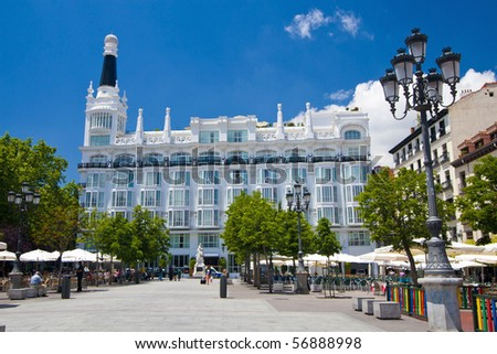 Plaza de Santa Ana, Madrid, SPAIN. - stock photo
