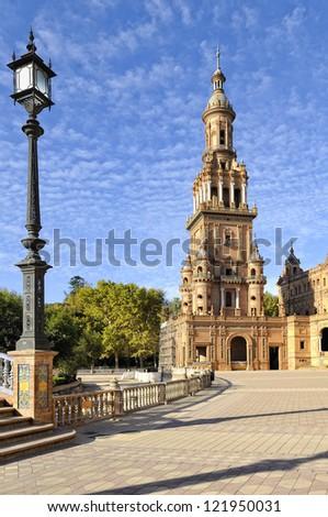 Plaza Espana at Seville, Spain - stock photo