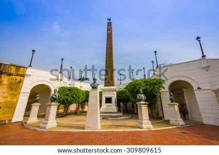 Plaza Francia in historic old town in Panama city. - stock photo