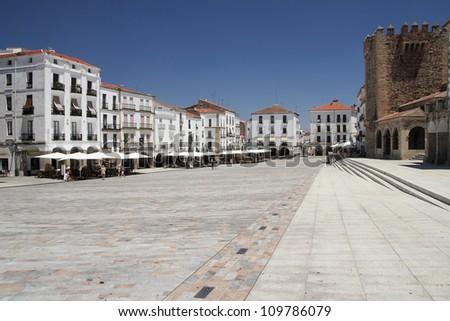 Plaza Mayor. Caceres, Extremadura - stock photo