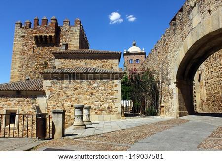 Plaza Mayor, Caceres, Spain - stock photo
