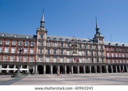 Plaza Mayor in Madrid, Spain - stock photo
