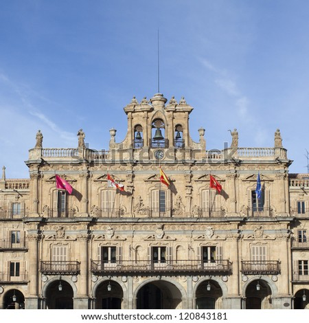 Plaza Mayor in Salamanca in Spain - stock photo
