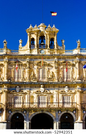 Plaza Mayor (Main Square), Salamanca, Castile and Leon, Spain - stock photo