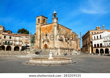 Plaza Mayor. Trujillo, Caceres, Spain