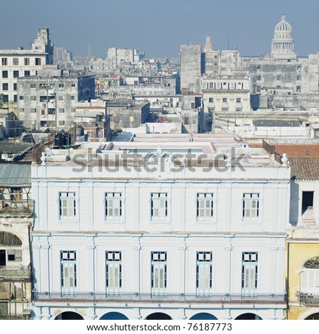Plaza Vieja, Old Havana, Cuba - stock photo