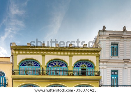 Plaza Vieja with colorful buildings in Havana, Cuba - stock photo