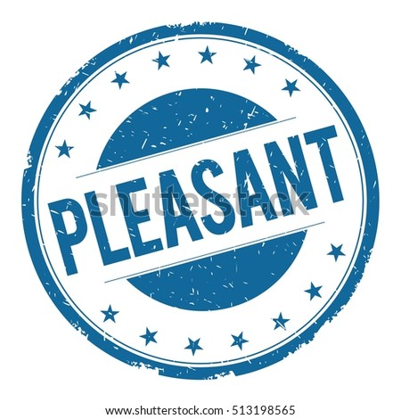 PLEASANT stamp sign text word logo blue.