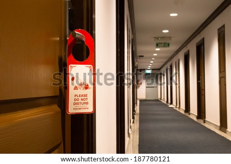 Please do not disturb ! - stock photo
