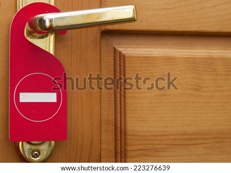 Please do not disturb on a door of number hotel  - stock photo