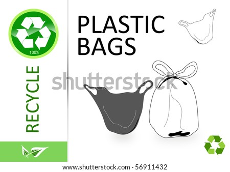 Please recycle plastic bags - stock photo
