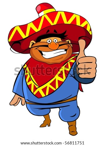 Pleased mexican man. - stock photo