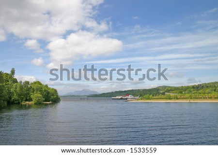 Pleasure Boat on Loch Lomond Scotland