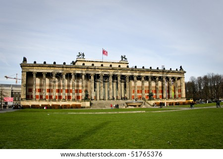 Pleasure Garden(The Lustgarten) and the Old Museum (Altes Museum) in Berlin, Germany - stock photo