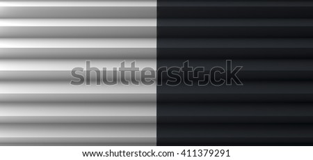 Pleated Black and White Copy Space 3D Illustration