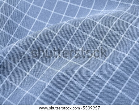 Pleated checkered fabric closeup - series - blue. Good for background. More fabrics available in my port. - stock photo