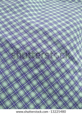Pleated checkered fabric closeup - series - blue. Good for background. More fabrics in my port. - stock photo