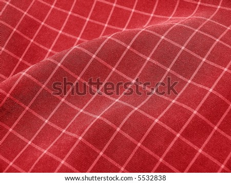 Pleated checkered fabric closeup - series - deep red. Christmas. Good for background. More fabrics in my port. - stock photo